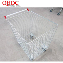 300L metal basket trolley cage rolling storage cart JHD-C300